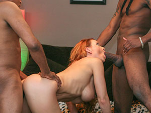 Janet holds a private Open House and takes on three guys. image 1